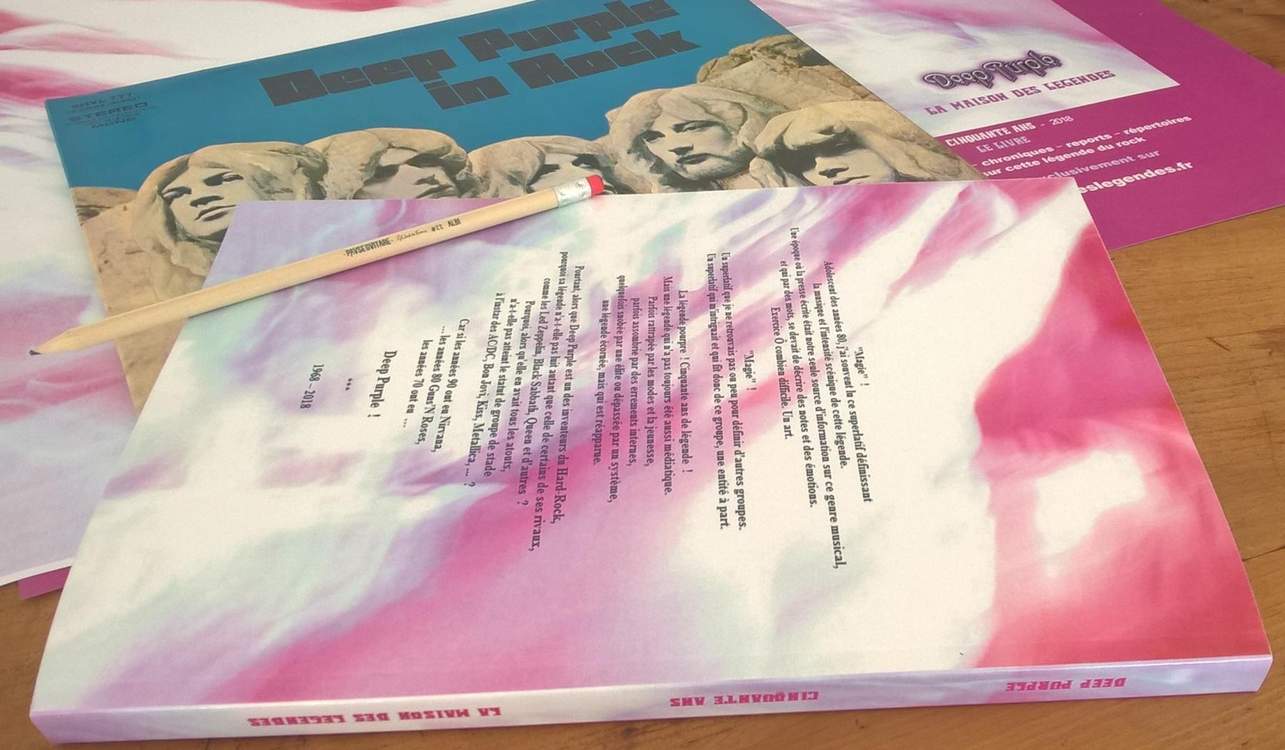 Deep Purple La Maison des Legendes 50 ans le livre en francais couverture dos